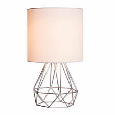 Retro Decorative Quirky Geometric Table Lamp Drum Shade Bedside Home Lighting