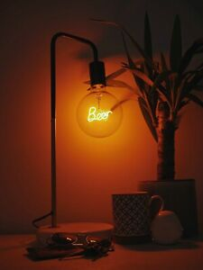 LOVE BEER LIVE DREAM drink GIN & be HAPPY LED Text bulb lamps  height 51cm