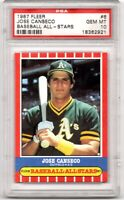 1987 FLEER ALL-STARS #6 A's JOSE CANSECO ~ PSA 10 GEM MINT~ VERY RARE LOW POP