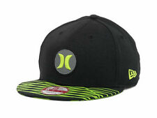 Hurley Super Open Fuse Black New Era 9Fifty Adjustable Snapback Ball Hat New NWT