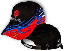 Homme Suzuki Noir Rouge Casquette Auto Logo Chapeau Réglable Baseball Cap
