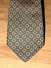 GUY LAROCHE Geometric Polka Dot 2 Tone Shirt Mens NECK TIE 100 % SILK Vintage
