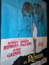LA RUMEUR  Audrey Hepburn james garner affiche cinema 1961