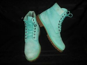 Timberland Boots Mint Green 6-Inch A1JM5 A0717  Leather Size: Mens 11M -Awesome!