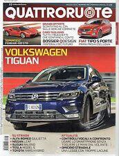 Quattroruote 2016 728.Volkswagen Tiguan,Ferrari 488 GTB, Fiat Tipo 5 porte