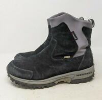 Merrell Tundra Womens 10 Black Thinsulate Polartec Waterproof Pull On Boots