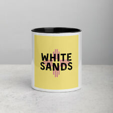 White Sands New Mexico State Flag Background Coffee Mug with Color Inside