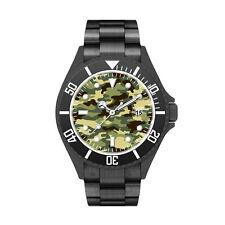 Italian Quartz Unisex Analogue Camouflage Water Resistant Aluminium Wristwatch