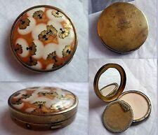 portacipria vintage in metallo con specchio COTY AIRSPUM disegno Lalique, cipria