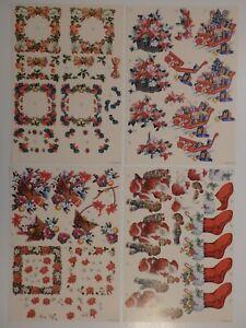 "Christmas Decoupage Sheet with 2 Designs ""Festive Season,"" (Choice of 4)"