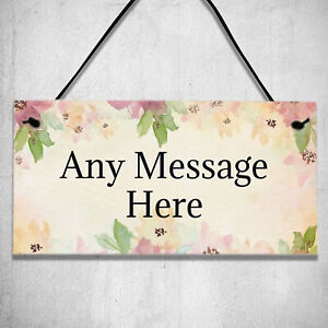 Personalised Any Message Garden Shed or Door Wall Gifts Plaque Hanging Sign