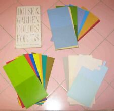 House & Garden Magazine Paint Color Samples for 1958 Cerulean Smoked Pearl Beige