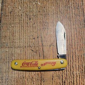 Vintage Drink Coca Cola In Bottles 5¢Coke Pocket Knife USA 5 Cents