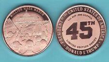 MILLION MAGA MARCH  1 oz. Copper Round  2021 TRUMP 45TH Series  LIMITED