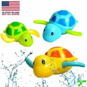 Wind-Up Turtle Floating Bath Toys - Babies Toddlers Kids Children Eco Fiendly