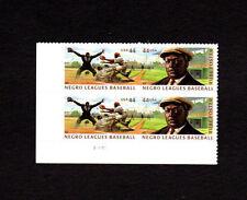 SCOTT # 4465-4466 Negro Leagues Baseball U.S. Stamps MNH - Plate Block of 4