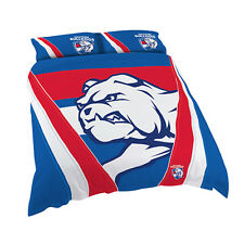 Western Bulldogs AFL DOUBLE Bed Quilt Doona Duvet Cover Set NEW 2018*