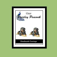 Rottweiler Dog Earrings