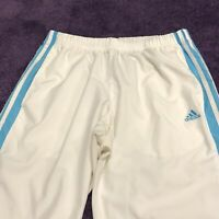 Adidas Capri Track Pants Womens L White Striped Activewear Walking Gym