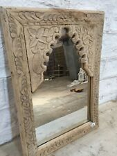 Hand carved Wooden Vintage Style Mehrab Timber Frame for  Mirror or Wall N