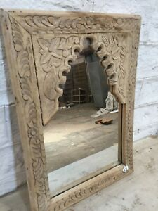 MADE TO ORDER Hand carved Wooden Vintage Style Mehrab Timber Frame Mirror