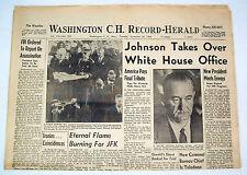 Washington Court House Ohio Newspaper - Nov 26 1963 - JFK Funeral  LBJ President