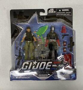GI Joe 50th Anniversary Shipwreck & Cobra Commander 2-pack Carded