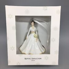 Royal Doulton Ornament Away in a Manger White Gown Floral Bouquet Bride NEW