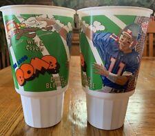 2 '95 Drew Bledsoe Wile E. Coyote Looney Tunes Plays McDonalds Cups Ne Patriots