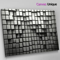 AB1104 grey white square modern Abstract Wall Art Picture Large Canvas Print