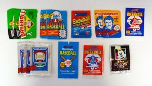 BASEBALL & DISNEY WRAPPERS LOT OF 14 Bowman, Donruss, Fleer, Score '80s & '90s