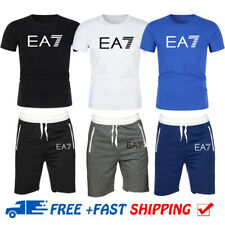 Summer Mens Tracksuit Set Sportswear Athletic Casual T-Shirt and Shorts Jogging