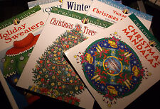BRAND NEW! LOT OF 6 CHRISTMAS COLORING BOOKS HOLIDAY FUN FOR ADULTS OR CHILDREN