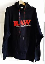 Raw Natural Rolling Papers Black Pull Over Hoodie Sweatshirt X-Large Free Ship