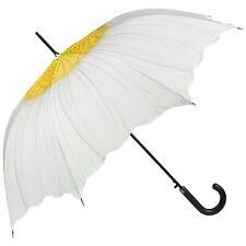 Regenschirm Automatik Hochzeit Braut weiß Damen Blume Blüte Margerite 5207A