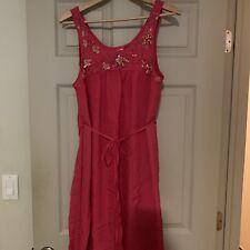 anthropologie leifsdottir dress Pink Silk Beaded Size 10