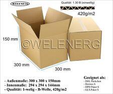 60 Faltkartons 300x300x150mm B-420g/m2 Versandkarton Postkarton Falt Kartons