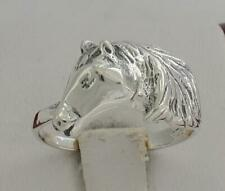 UNIQUE .925 STERLING SILVER DETAILED HORSE  RING size 7  style# r1873