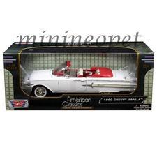 MOTORMAX 73110 1960 CHEVROLET IMPALA CONVERTIBLE 1/18 DIECAST MODEL CAR WHITE