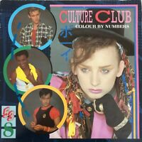 CULTURE CLUB COLOUR BY NUMBERS LP VIRGIN  UK 1983 EXC PRESS + INSERT