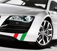 """8"""" Bandiera Italiana colore Lato Gonna Anteriore Labbro Decalcomania KIT FIAT 500 FERRARI MASERATI"""