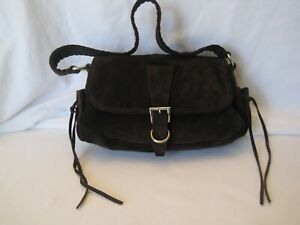 Prada Small Brown Suede Handbag, Excellent Condition!