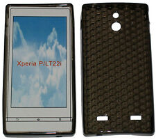 For Sony Xperia P LT22i LT22 Pattern Soft Gel Case Protector Cover Black New UK