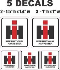 5 Square Ih International Harvester Tractor Vinyl Decals