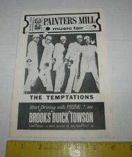 1970's The Temptations Concert Program Painters Mill Music Fair