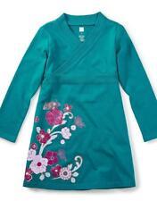 NWT Tea Collection Ingram Street Wrap Neck Dress Sz:  6 Green Dragonfly
