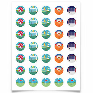 """[35-Ct] Fun 1"""" Potty Training Stickers for Toddlers, Sports Edition by Ellopi"""