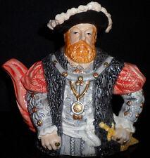 Leonardo Collection Ceramic Novelty Tea Pot English King Henry VIII Lid Kitchen