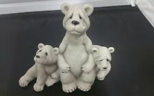 Quarry Critters Stone BearTrio Figurine BILLY & FRIENDS econd Nature Design 2000