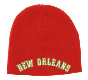 Adidas NBA Youth New Orleans Pelicans Reversible Draft Knit Cuffless Hat, Red